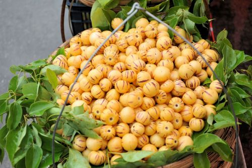 Markets: Fruit & Veg - Kunming market, Yunnan, China: Longan a type of lychee