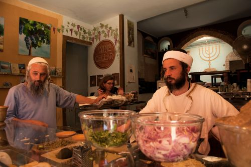 Markets-Vendors - Safed (Hebrew צפת Zfat), Israel: Yemenite coffee shop