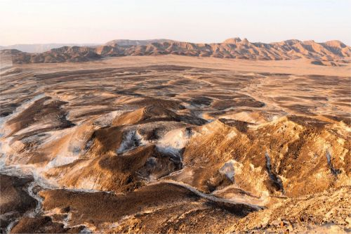 Living-Natue: The Mineral Kingdom - Israel, Negev Plateau, Mitzpe Ramon: A panoramic view of the Ramon Crater