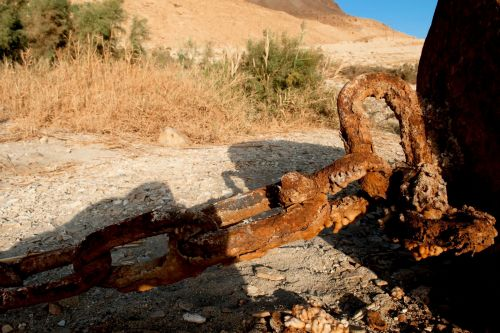 Living-Natue: The Mineral Kingdom - Israel, Dead Sea, Ein Gedi:  A study in corrosion - Rusty cain