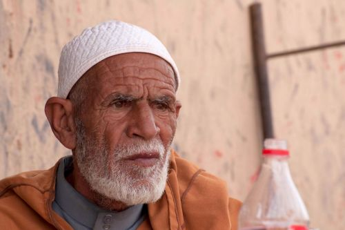 Old-Age – Marrakech, Morocco: Portrait of an elderly man
