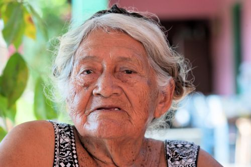 Old-Age – Guatemala: Face of old lady with dominant age lines