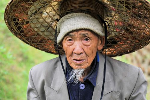 Old-Age – China:  Elderly man seeking tranquility