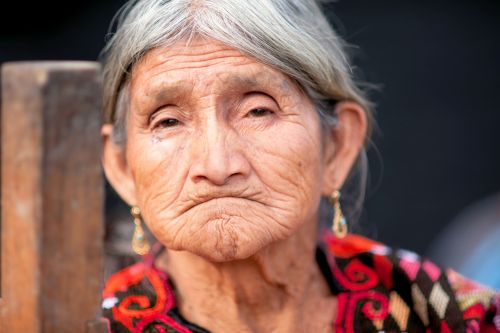 Old-Age - Guatemala:  Toothless and tight tipped lady