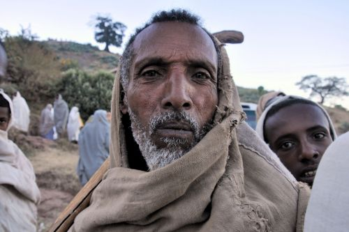 Old-Age – Lalibela, Ethiopia: during New Year's day celebrations