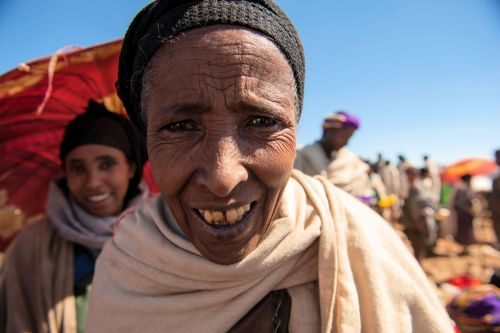 Old-Age - Ethiopia: Villager at the market
