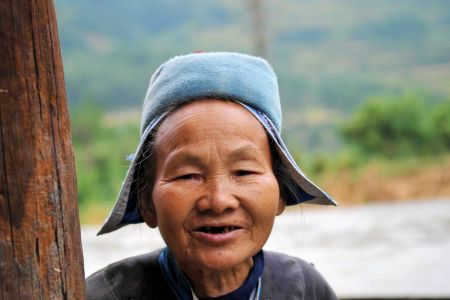 Faces of China: An old woman in a village in Guizhou Province