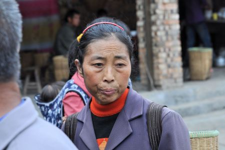 Faces of China: A woman lost in thought