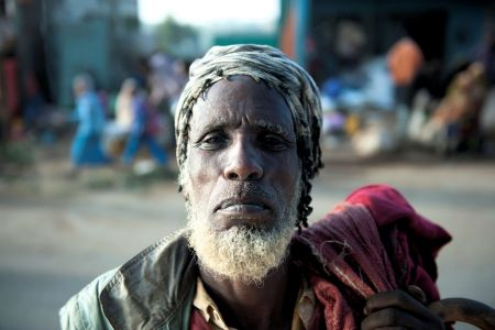 Faces of Ethiopia: Old bearded man in market