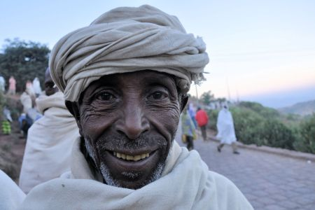 Faces of Ethiopia: A cheerful old man