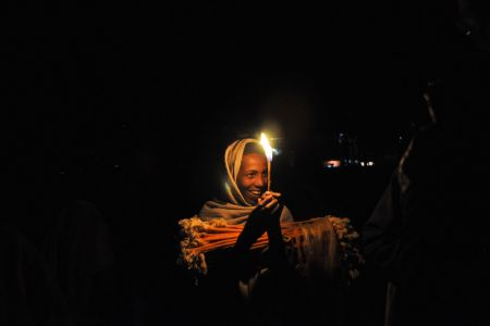 Faces of Ethiopia: Lighting a torch to be able to work