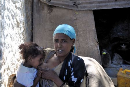 Faces of Ethiopia: Mother breastfeeding baby