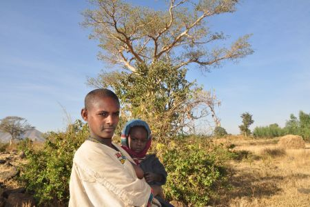 Faces of Ethiopia: A farm girl with her child
