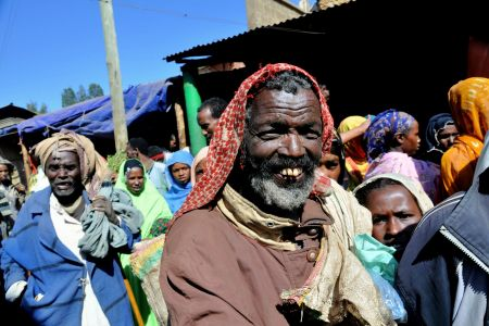 Faces of Ethiopia: Man standing out in a crowd