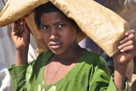 Faces of Ethiopia: A girl in green