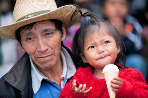Faces of Guatemala: Father and daughter
