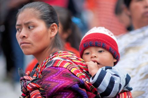 Faces of Guatemala: Mother carrying her baby