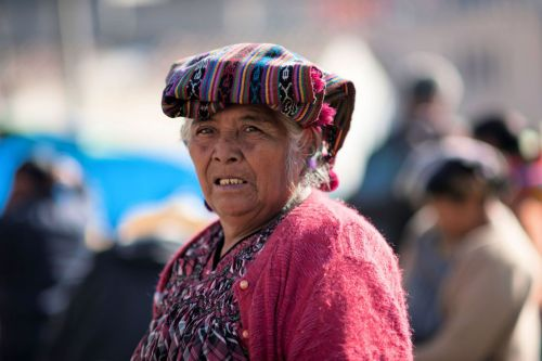 Faces of Guatemala: Woman with a traditional cloth on her head