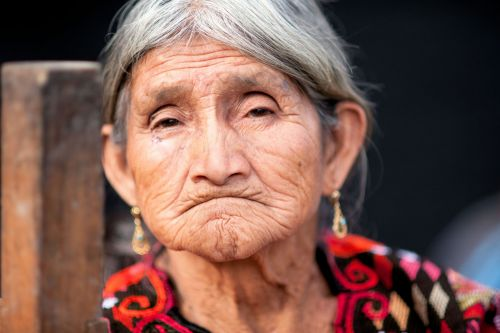 Faces of Guatemala: A thoughtful old villager