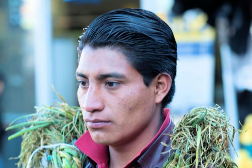 Faces of Guatemala: Young man selling onions