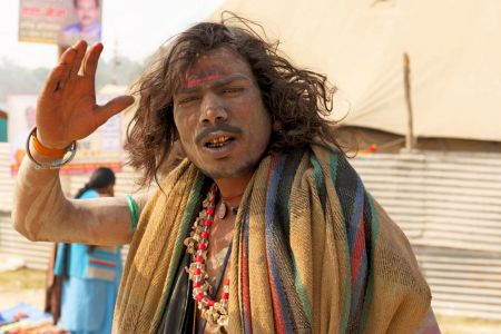 Faces of India: - Allahabad; Kumbh Mela celebrations - A painted pilgrim