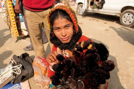 Faces of India: A Flower Girl - Indian version