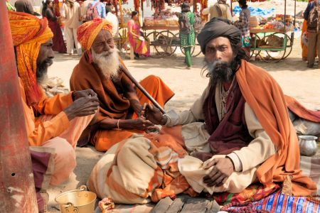 Faces of India: Allahabad; 3 Wise Men (maybe Caspar, Melchior and Balthazar)