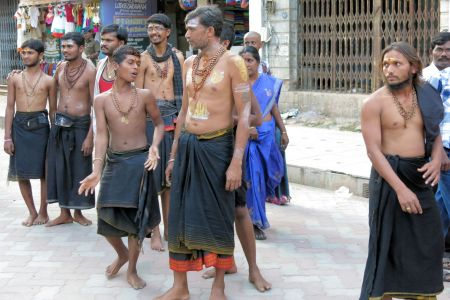 Faces of India: Young men in Madurai for pilgrimage