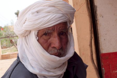 Faces of Morocco: Calm and gentle old man with a white turban