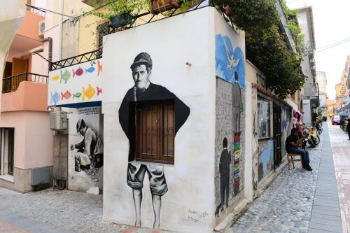 Urban - Graffiti: Italy, Calabria Region, Cosenza Provinve, Vilage of Diamante: At the 'Festival of Wall Paintings'