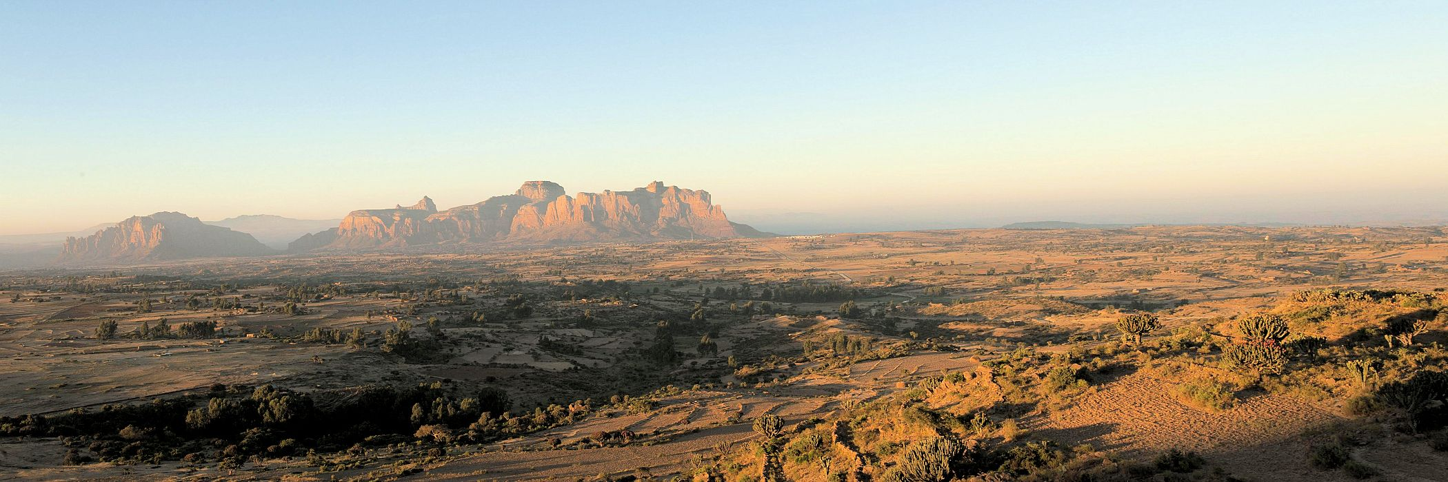 Gheralta mountain range in Ethiopia