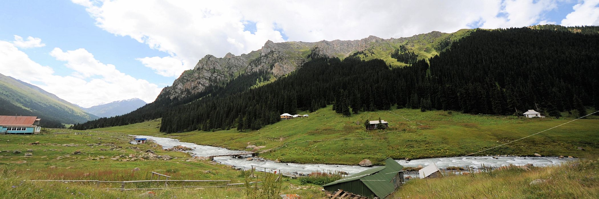Central Asian Highlands: Altyn Arashan valley near Karakol